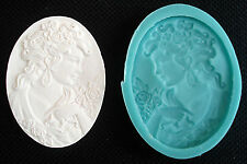 Silicone Mould CAMEO WOMAN'S HEAD_3 Sugarcraft Fondant / fimo mold