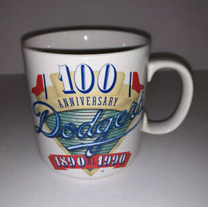 Los Angeles Dodgers 100th Anniversary Coffee Mug Tea Cup MLB LA 1890 1990