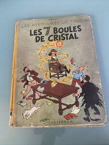 Tintin Les 7 Boules De Cristal 1948 Titre En Noir B2