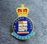 Royal Navy British Veteran new enamel pin lapel badge UK 2021 Armed Forces