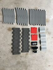 Vintage 1985 LEGO Train 7722 - Incomplete - 78 Parts Track Doors Sleeper Plates