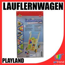 Playland Lauflernwagen aus Holz mit vielen Lehrreichen Funktionen