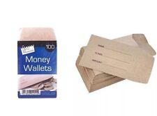 80 Dinner Money Wallets Envelopes Wages School Petty Cash Coin Children Kids BN