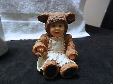 """Anne Geddes """" Little Things Mean A Lot """" Bear Figurine - Perfect Condition"""