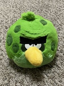 """Angry Birds 2012 Space Terence Green Bird Plush 6"""" Stuffed Toy WITH SOUND"""