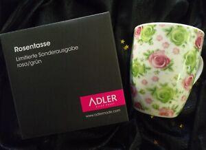 ROSENTASSE rosa/grün von ADLER - SAMMELTASSE - limit. Sonderausgabe - neu & ovp.