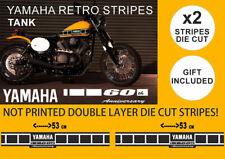 "Yamaha Fuel Tank Stickers Decals Vintage Gas Tank Stripe 2""x53cm +1 YZ50 YZ50G"