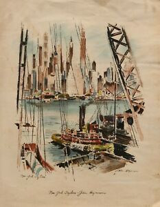 John Haymson 1903-1980 - New York skyline