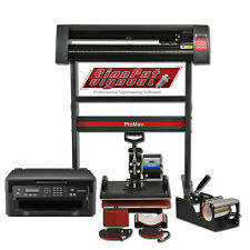 Heat Press 5in1 Combo + Vinyl Cutter Plotter + Printer Sublimation Transfer