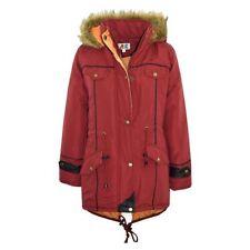 Manteaux, vestes et tenues de neige rouge avec capuche en polyester pour fille de 2 à 16 ans