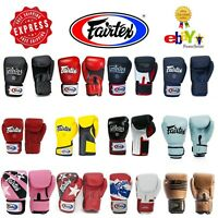 Fairtex Gloves Muay Thai Kick Boxing MMA K1 BGV1 BGV5 BGV6  Black Blue Red White