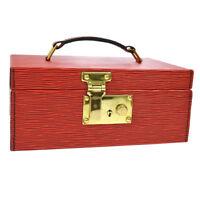 LOUIS VUITTON BOITE A TOUT JEWELRY BOX HAND BAG RED EPI LEATHER AK36856k
