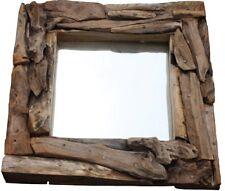 Spiegel mit Wurzelteak 50x50cm 2730 Deko Unikat Wohnmöbel rustikal Wandspiegel