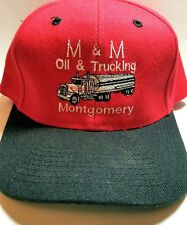 VTG-1980s M & M Oil &  Trucking Montgomery trucker snapback hat