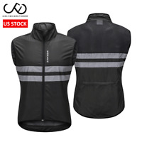 Cycling Vest Windbreaker Mesh Back Gilet Full Zipper Waistcoat Sleeveless Jersey