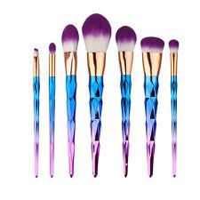 7pcs Rainbow Makeup Brushes Cosmetics Set Powder Foundation Eyeshadow Lip Tool
