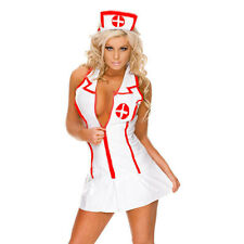 3pcs Lingerie Set Nurse Doctor Uniform Costume Cosplay Fancy Dress G-string Hat