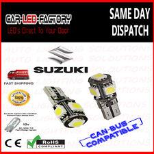 SUZUKI 501 T10 W5W XENON WHITE LED CANBUS CAR SIDELIGHT MULTI USE CAPLESS BULB