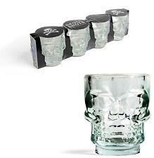 Kikkerland Set De 4 Vidrio Calavera Vasitos Beber Partido Shooter Glass Bar