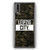 Huawei P20 Hard Cover Hülle Leipzig City Camouflage Motiv Design Deutschland Mi