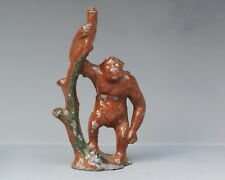 PIXYLAND (KEW) PRE-WAR 1920's LEAD ZOO ANIMALS - GORILLA with TREE TRUNK...!!