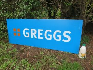 A GOOD LARGE ACRYLIC GREGGS RETAILERS SHOP SIGN  126cm WIDE