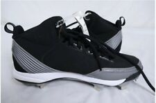 NWT MEN'S ADIDAS POWER ALLEY METAL MI BASEBALL CLEATS SHOES BLACK SILVER SIZE 11