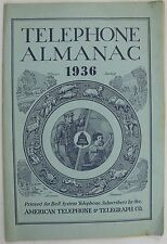 Bell System American Telephone & Telegraph Co Telephone Almanac 1936