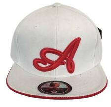 """Men's Pit Bull White Red Scripted """"A"""" Fitted Baseball Cap Hat Size Small"""
