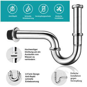 Sifon Siphon Röhrensiphon Geruchsverschluss Für Waschtisch Waschbecken Syphon