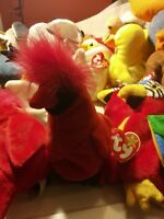 Ty Beanie Babies Rare Retired Mac the Cardinal w Tag Errors Best UNIQUE Gift!!