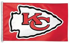 New listing Kansas City Chiefs 3x5 Flag [New] Nfl Banner Sign Fan Wall Man Cave