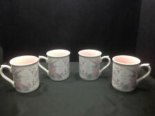 "Enesco ""To Mother With Love"" Roses & Lattice Coffee Tea Mugs, Set of (4)"