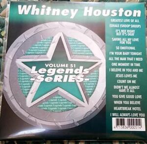 LEGENDS KARAOKE CDG WHITNEY HOUSTON R&B SOUL #51 16 SONGS CD+G GREATEST LOVE
