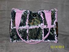 PINK Mossy Oak Break Up Camo Hunting Rag Quilt Diaper Bag Tote Purse