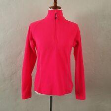Mountain Hard Wear 1/4 Zip Fleece Jacket NEON PINK Womens Medium