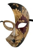 Maschera Di Costume Luna Veneziana Day Night Nero -1855 V0