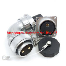 WF28 2Pin Waterproof Connector,50A 500V Wielded Aviation Bulkhead Connector Plug