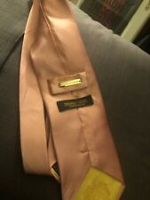 Donald Trump Signature Collection Pink Solid Luxury Neck Tie 100% Silk Guc