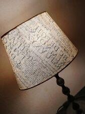 Lampenschirm  ∅ 16-24cm , H: 16cm  beige + braun  Ausstellungsware !!