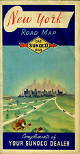 1938 New York Road Map from the Sun Oil Co. (SUNOCO)