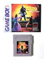 Ultima Runes of Virtue Nintendo Game Boy Cleaned & Tested Authentic w/ Manual!