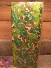 """Vintage Woolworth Instamatic Photo Album Green Roses - 3 5/8"""" x 3 5/8"""" photos"""