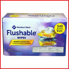 [No Tax] Member's Mark Flushable Wipes (9 pk, 540 wipes) , Free Shipping