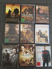 9-DVD Sammlung Action&Spannung: Kreuzritter; Western(Deadwood season 1 und 2),