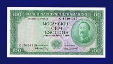 MOZAMBIQUE 100 ESCUDOS 1961  PIC 109B NO OVERPRINT UNC 15404315