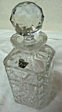 DECANTER Jewel Hand Cut Lead Crystal Made in Czechoslovakia
