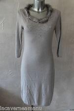 luxueuse dress robe pull angora et col fourrure ERMANNO SCERVINO taile 38