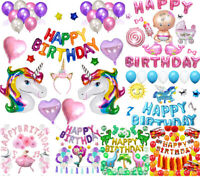 Happy Birthday Decorations Set Theme Party Supplies Banner Balloons for All Ages
