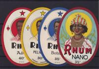 original french 1920s rhum rum alcohol  spirits bottle  labels ref r13611